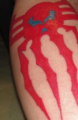 Spider-Man 2099 Logo tattoo