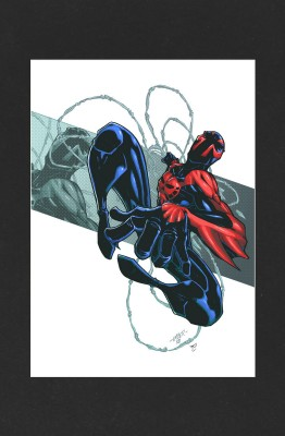 Spider-Man 2099 Mounted Print - Spider-Man 2099