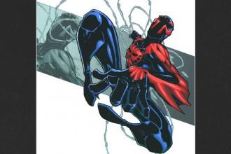 Spider-Man 2099 Mounted Print - Spider-Man 2099